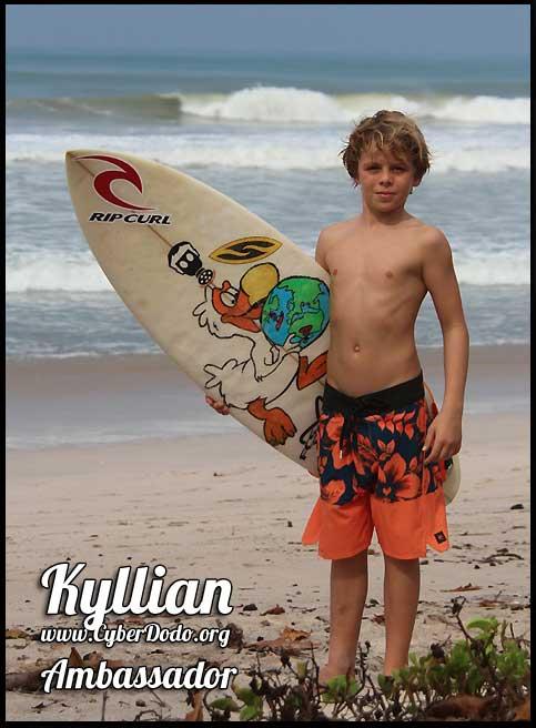 Kyllian Guerin, surfeur surdoué né en 2003, Ambassadeur CyberDodo