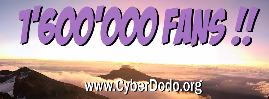1'600'000 fans pour CyberDodo, avec en fond la magnifique vue depuis le sommet du Kilimandjaro